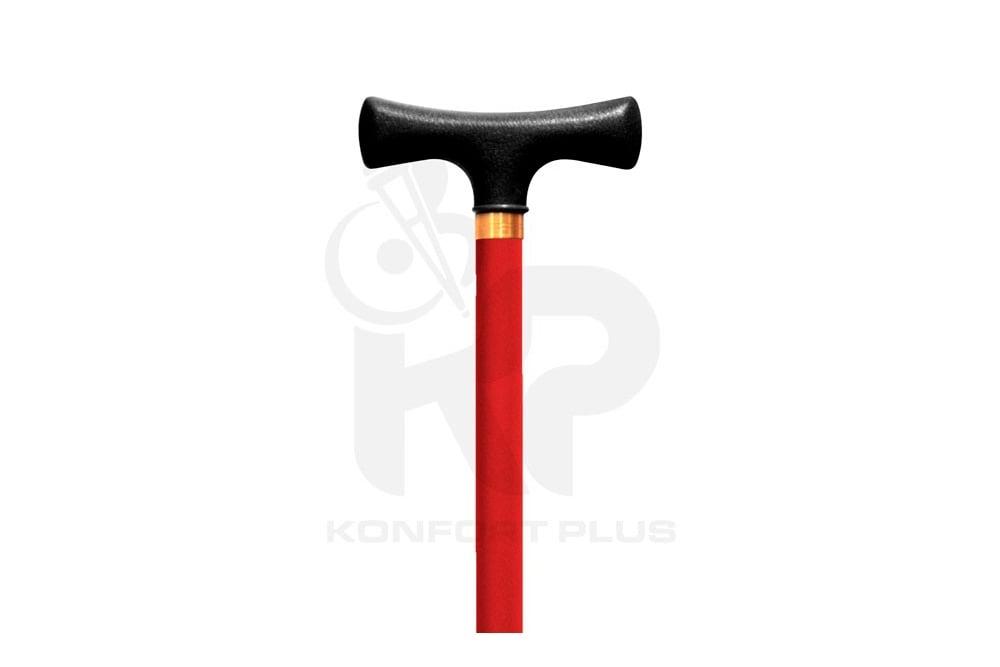 Bastón Con Empuñadura En T Konfort Plus - Color Rojo