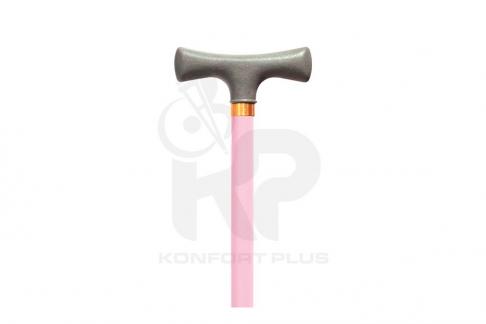 Bastón Con Empuñadura En T Konfort Plus - Color Rosa
