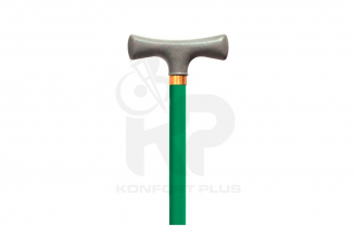 Bastón Con Empuñadura En T Konfort Plus - Color Verde Oscuro
