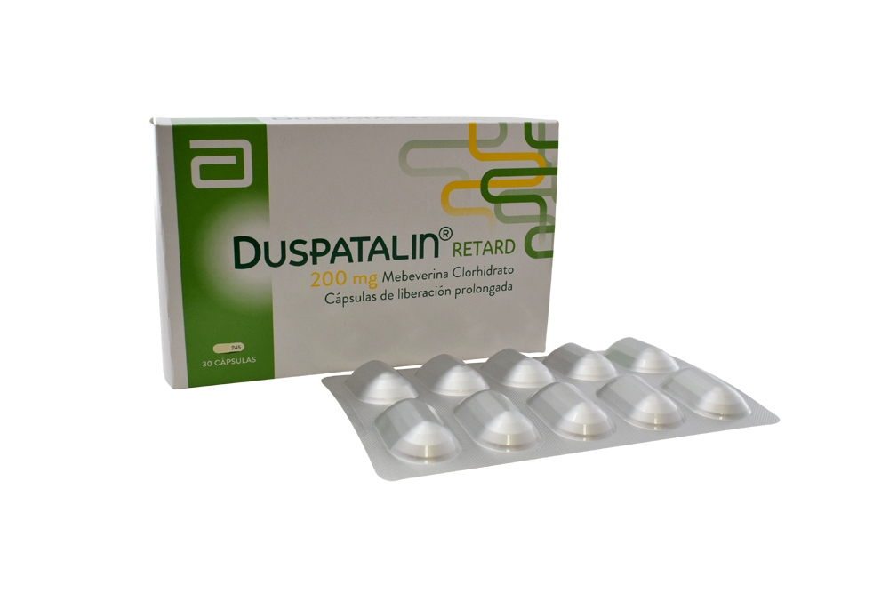 Duspatalin Retard 200 mg Caja Con 30 Cápsulas De Liberación Prolongada Rx