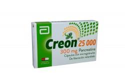 Creon 25000 300 mg Caja Con 20 Cápsulas De Liberación Retardada Rx