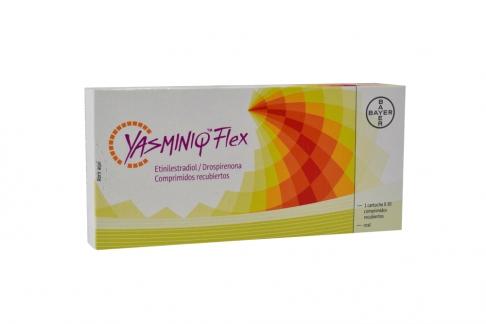 Yasminiq Flex 0.02 / 3 mg Caja Con 1 Cartucho Con 30 Comprimidos Recubiertos Rx