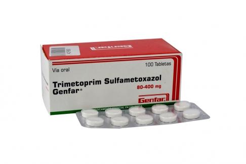 Trimetiprim Sulfameroxazol 80 / 400 mg Caja Con 100 Tableras Rx2