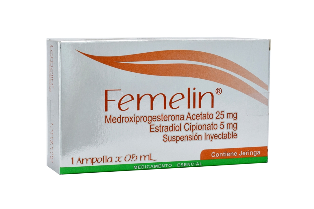 Femelin 25 / 5 mg Suspensión Inyectable Caja Con 1 Ampolla Con 0.5 mL Rx