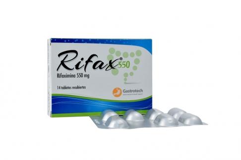 Rifax 550 mg Caja Con 14 Tabletas Recubiertas Rx2