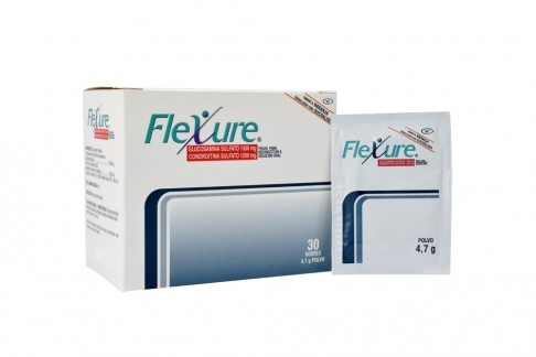 Flexure 1500 / 1200 mg Polvo Caja Con 30 Sobres Con 4.7 g - Sabor Naranja Rx4