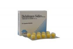 Diclofenaco Sódico 100 mg + Hidróxido De Aluminio 200 mg X 10 Cápsulas Blandas Rx