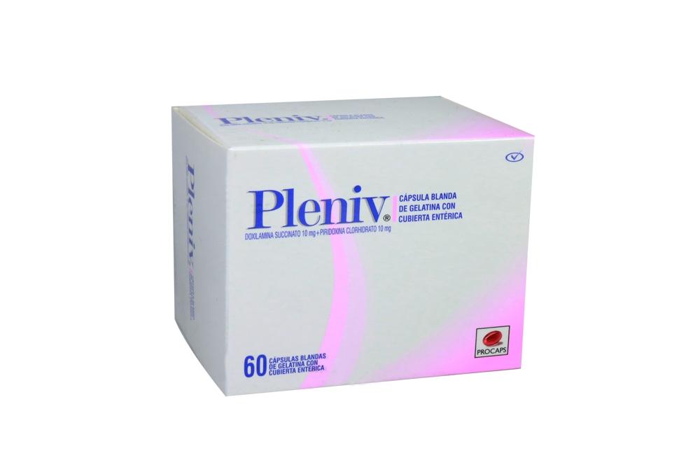 Pleniv Caja x 60 Cápsulas Blandas De Gelatina Con Cubierta Entérica Rx