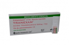 Tranexam Caja x 8 Ampollas de 5 mL Solución Inyectable Rx