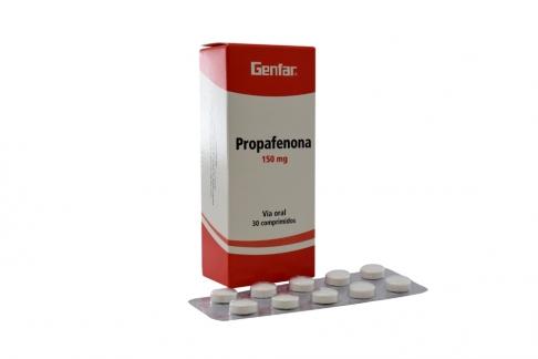 Propafenona 150 mg Caja x 30 Tabletas Rx
