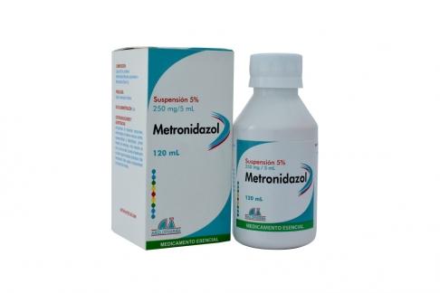 Metronidazol 5 % Suspensión Frasco X 120 mL Rx2