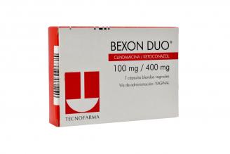 Bexon Duo 100/400 mg Caja Con 7 Óvulos Vaginales Rx2
