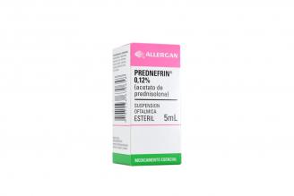 Prednefrin 0.12% Gotas Oftálmicas Caja Con Frasco Con 5 mL Rx