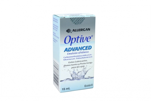 Optive Advance Gotas Emulsión Oftálmica Caja Con Frasco Con 15 mL