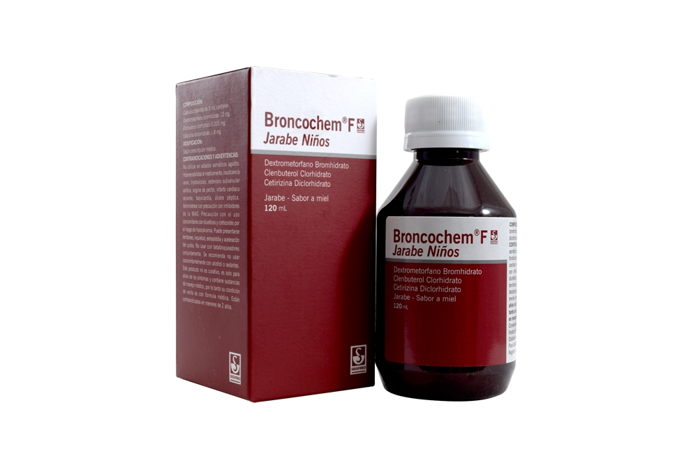 Broncochem F Niños Jarabe Caja Con Frasco x 120 mL Rx