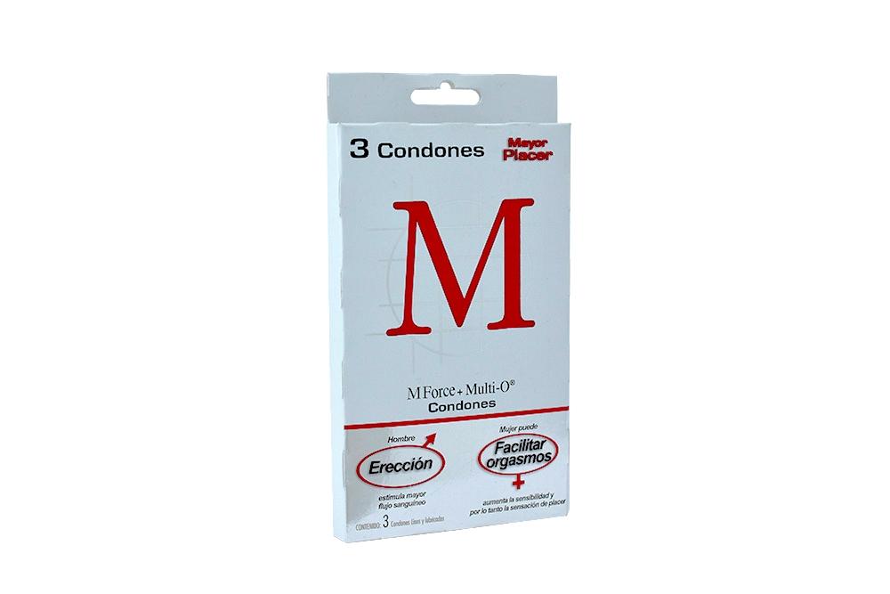Condones M Force + Multi O Caja Con 3 Unidades