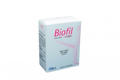 Biofil Gel 225 mg / 5 g Caja Con 7 Aplicadores Rx