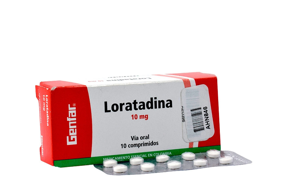 Loratadina 10 Mg Caja Con 10 Tabletas Rx