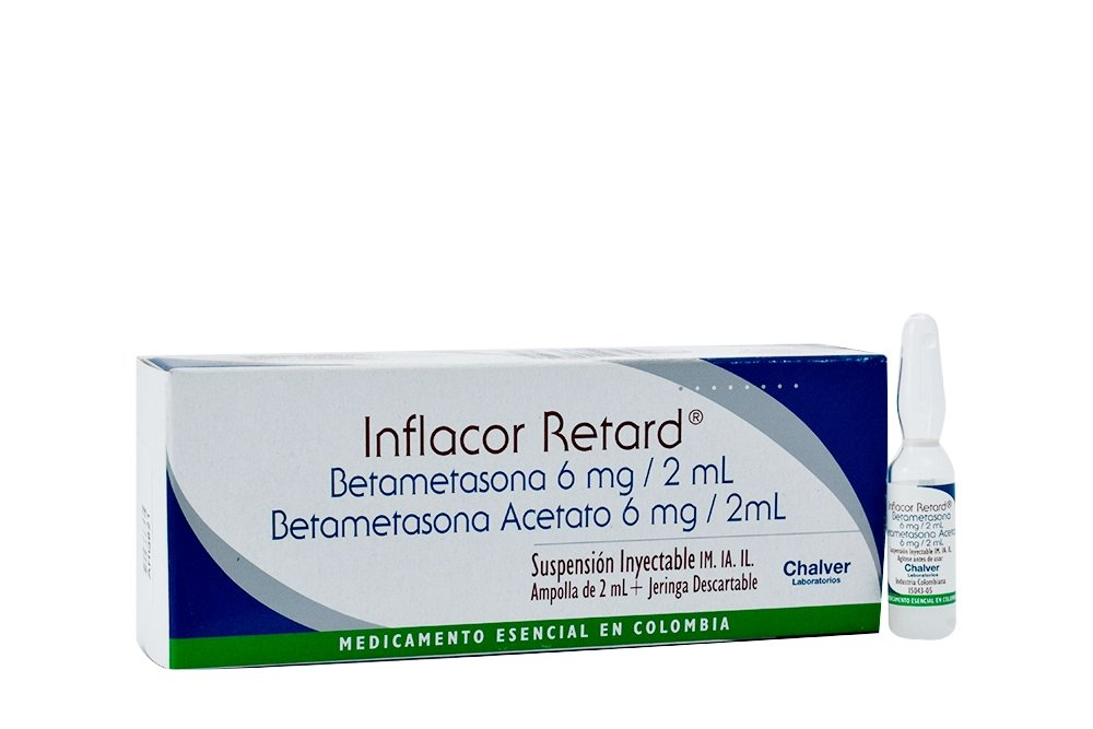 Inflacor Retard Suspensión Inyectable 6 mg / 2 mL Caja Con 1 Ampolla de 2 mL RX