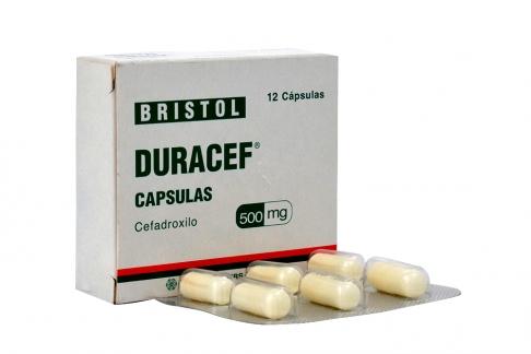 Duracef 500 mg Caja Con 12 Cápsulas Rx2