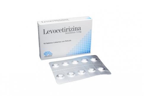 Levocetirizina 5 Mg Caja x 10 Tabletas RX