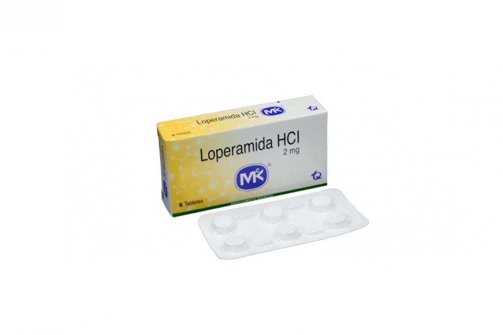 Loperamida HCI 2 mg Caja Con 6 Tabletas Rx