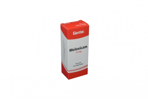 Meloxicam 7.5 mg Genfar Caja Con 30 Tabletas Rx