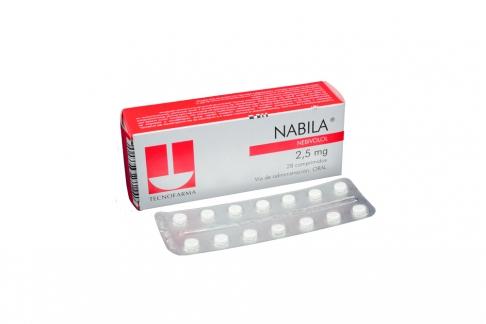 Nabila 2.5 mg Caja Con 28 Comprimidos Rx4