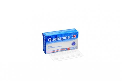 Quetiapina 25 mg Caja Con 30 Tabletas Recubiertas Rx4