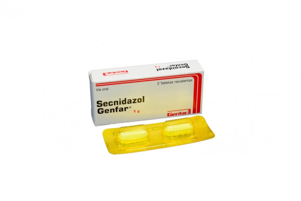 Secnidazol 1 g Caja Con 2 Tabletas Recubiertas Rx
