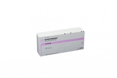 Synthroid 112 mcg Caja X 30 Tabletas RX