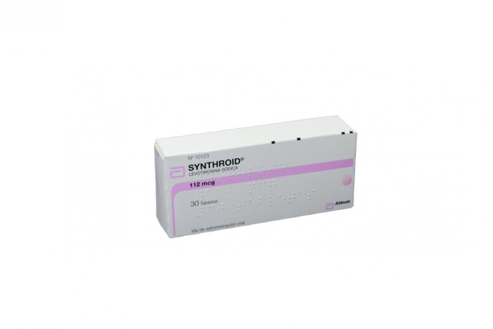 Synthroid 112 mcg Caja Con 30 Tabletas RX