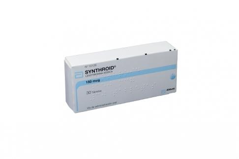 Synthroid 150 mcg Caja X30 Tabletas Rx