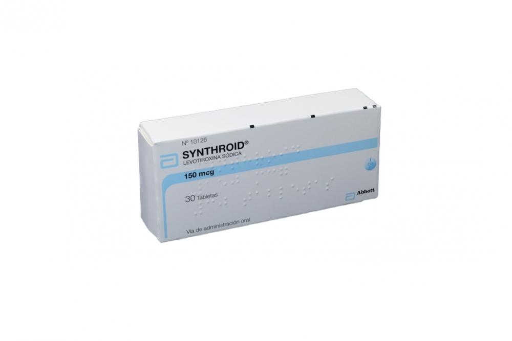 Synthroid 150 mcg Caja Con 30 Tabletas Rx