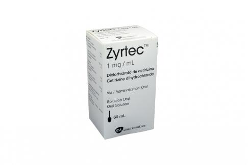 Zyrtec 1 mg Solución Frasco x 60 mL Rx