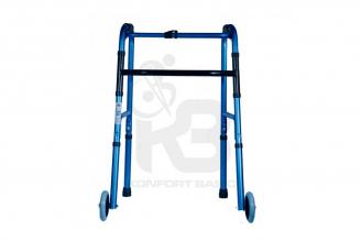 """Caminador Con Ruedas De 5"""" En Auminio Anodizado KB - Azul"""