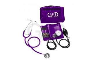 Kit de Tensiómetro y Fonendoscopio Doble Campana GMD- Púrpura