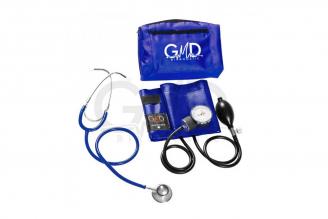 Kit de Tensiómetro y Fonendoscopio Doble Campana GMD - Azul Cerúleo