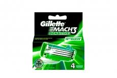 Repuesto Máquina Para Afeitar Gillette Mach 3 Sensitive Caja Con 4 Cartuchos