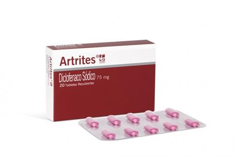 Artrites 75 mg Caja Con 20 Tabletas Recubiertas Rx
