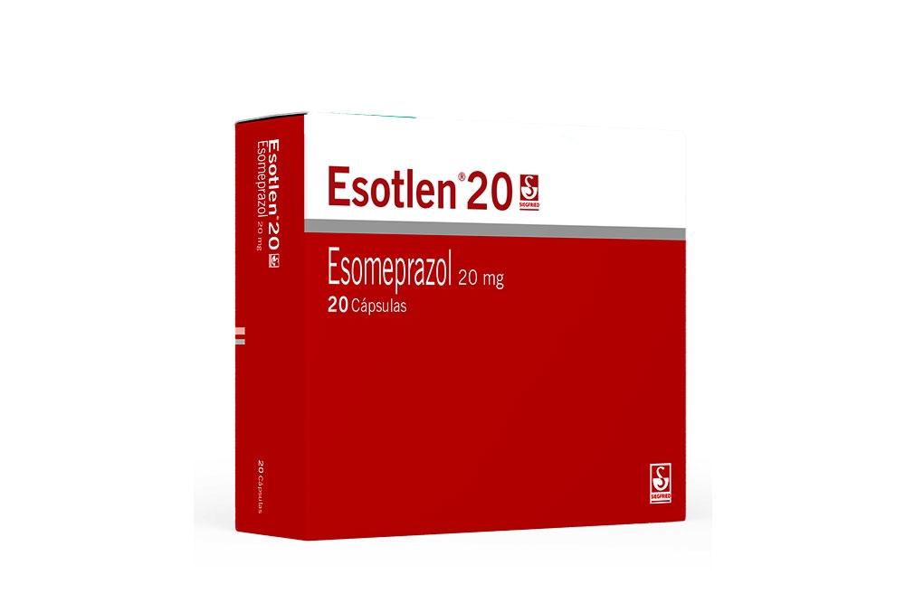 Esotlen 20 mg Caja Con 20 Cápsulas Rx