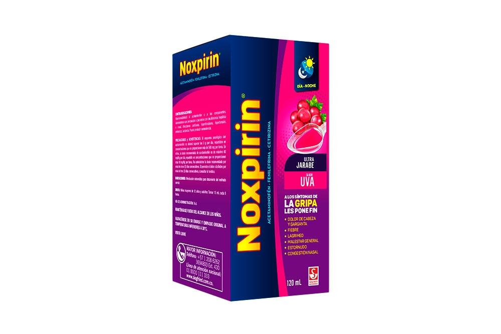 Jarabe Noxpirin Ultra Adultos Caja Con Frasco Con 120 mL