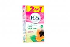 Veet Crema Naturals Papaya 100 mL - 2 Cremas En 1 Caja