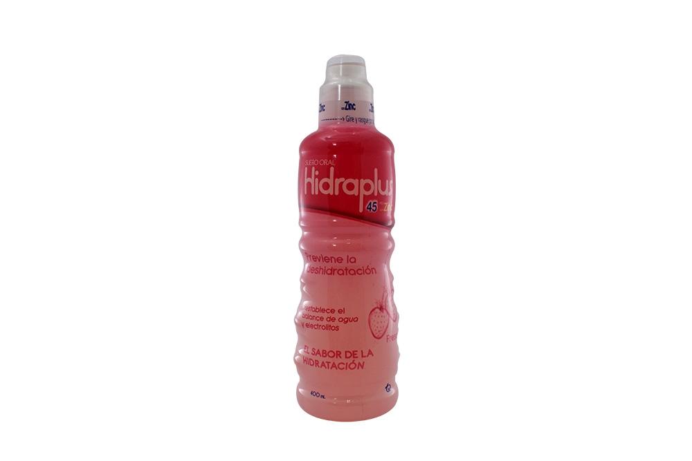 Hidraplus 45 Con Zinc Suero Oral Frasco Con 400 mL – Sabor Fresa