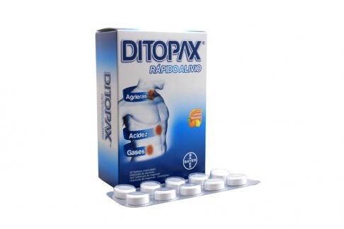 Ditopax Antiácido Caja Con 50 Tabletas Masticables