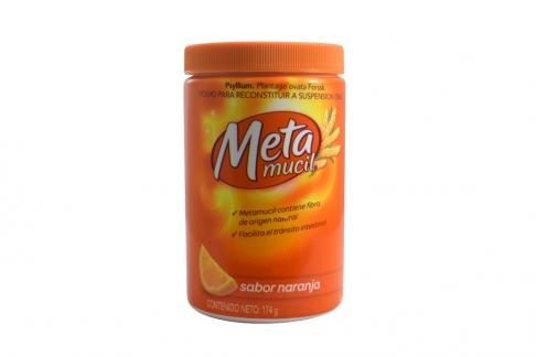 Metamucil Frasco Con 174 g - Sabor Naranja
