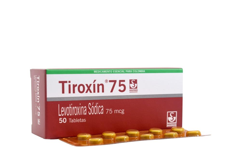 Tiroxín 75 mcg Caja Con 50 Tabletas RX