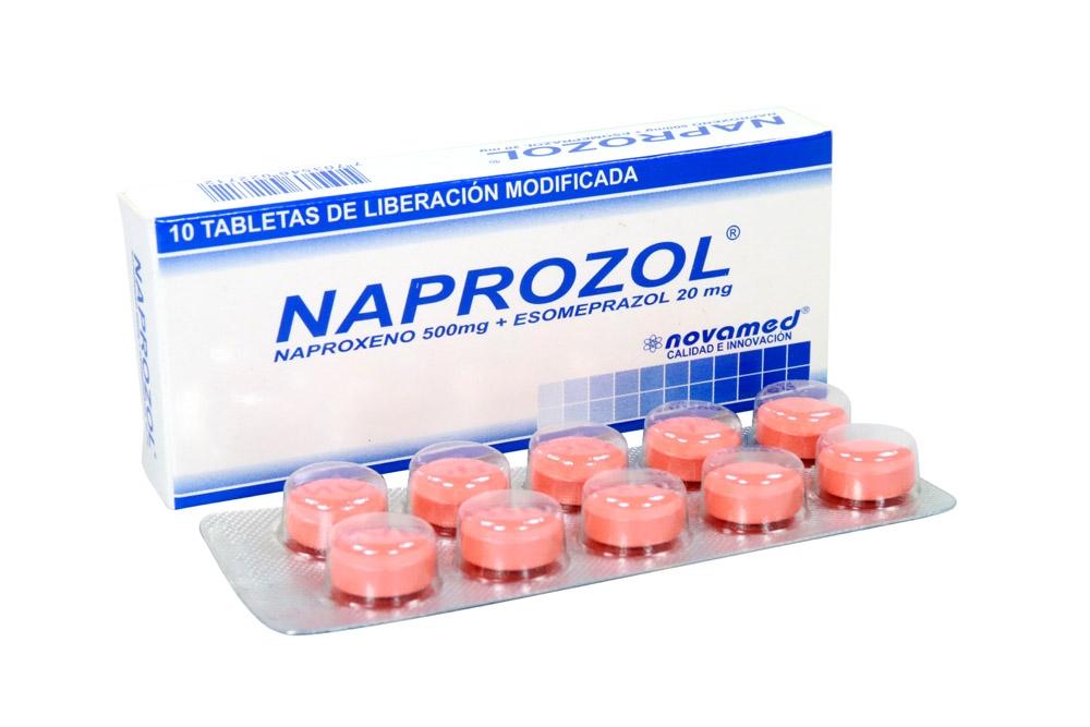 Naprozol 500 / 20 Mg Caja Con 10 Tabletas