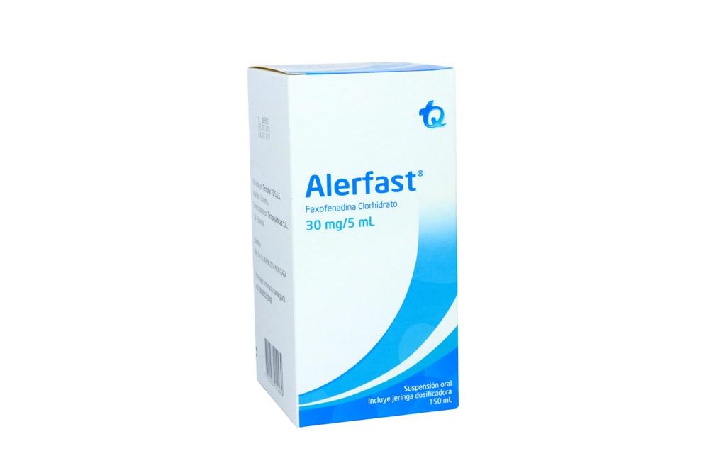 Alerfast Suspensión Oral 30 mg /5 mL Caja Con Frasco Con 150 mL Rx