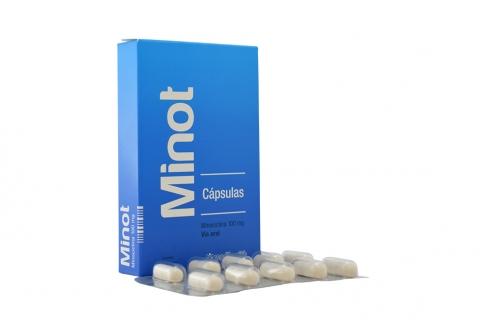 Minot 100 Mg Caja Con 10 Cápsulas